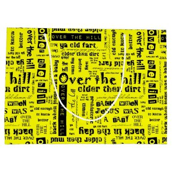Over the Hill Funnies 07 Yellow-Large Gift Bag