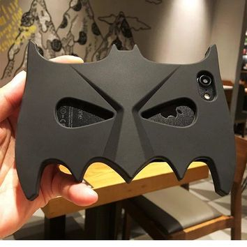 Batman Dark Knight gift Christmas 3D Cartoon batman mask soft silicon cool cover back phone case for iPhone 5 5S SE 6 6S 6plus 6S Plus 7 7plus Coque AT_71_6