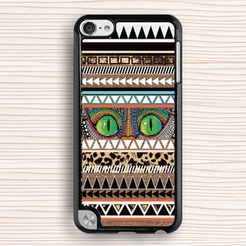 unique ipod case,cool ipod touch cover,beautiful ipod 4 case,cat eyes ipod cover,pattern design ipod 5 case,geometry ipod case,geometrical ipod 4 case