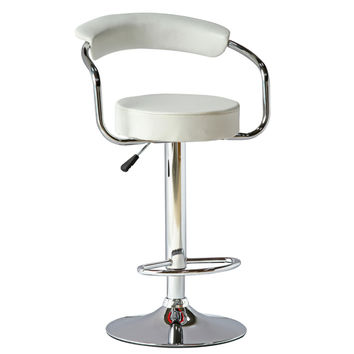 Smart Barstool, White Chrome