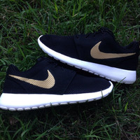 Custom Nike Roshe One Gold