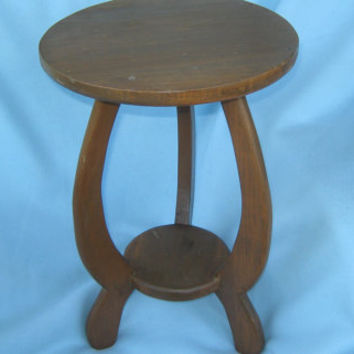 Vintage 3 Curvature Legged  Wooden Stand or Small Table - Home decor - Plant Stand