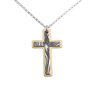 Silver and gold plated Cross Necklace