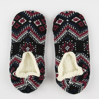 Full Tilt Holiday Traditions Slipper Socks Black
