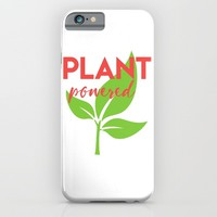 PLANT POWERED vegan quote iPhone & iPod Case by deificus Art
