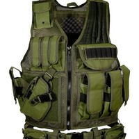 UTG 547 Law Enforcement Tactical Vest - Left Handed, OD