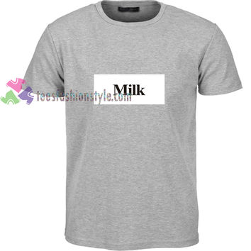 Milk t shirt gift tees unisex adult cool tee shirts buy cheap