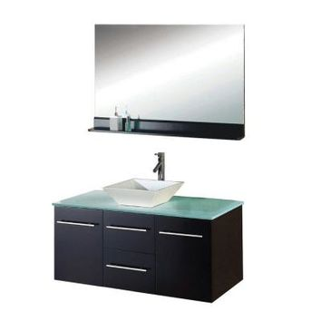 Virtu USA Marsala 47-1/4 in. Single Basin Vanity in Espresso with Glass Vanity Top and Mirror-MS-420G at The Home Depot