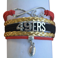 Infinity Collection Love NFL San Francisco 49ers Bracelet