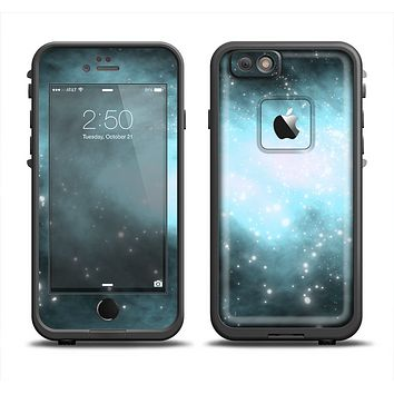 The Bright Blue Vivid Galaxy Apple iPhone 6 LifeProof Fre Case Skin Set