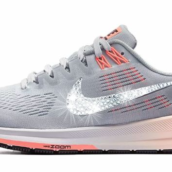 Nike Air Zoom Structure 21 + Crystals - Wolf Grey