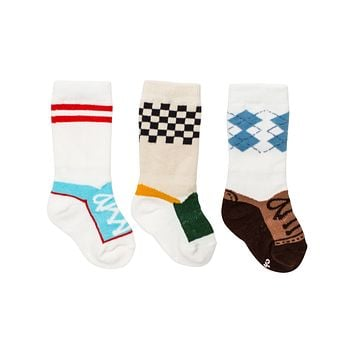 Stay Put Box of 3 Baby Boy Knee Socks