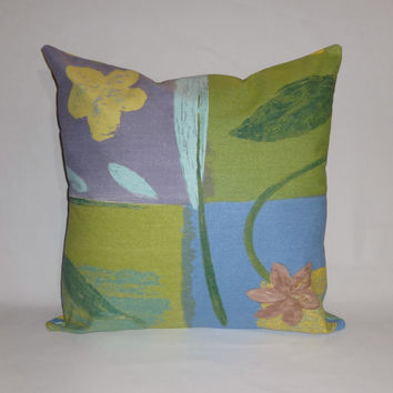 Kravet Designer Pillow Cover Accent Pillow Toss Pillow Throw Pillow Decorative Pillow Cover Patio Pillow Cover Floral Green Pillow Cover