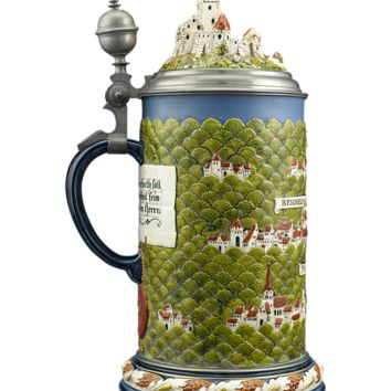 Antique Pottery, Villeroy & Boch, Mettlach Beer Stein at rauantiques.com
