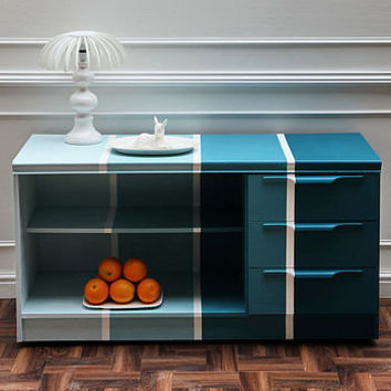sideboard with padded drawers by revived furniture | notonthehighstreet.com
