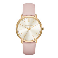 jaryn gold tone leather band watch michael kors - Google Search