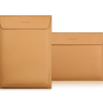 """Magnetic Leather Macbook Air and Pro Case  11"""" 12"""" 13"""" 15"""""""