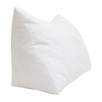 One - Wedge Pillow - 100% Cotton Shell - For Bed, Couch, Floor