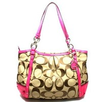 Coach Alex Chain Signature Tote (Pink) #20807 MSRP $358