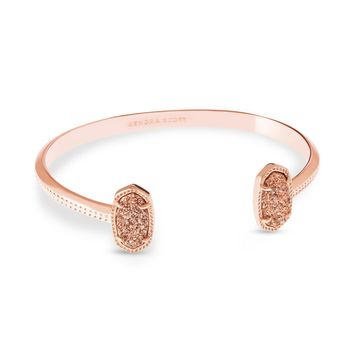 Elton Rose Gold Pinch Bracelet in Ivory Pearl | Kendra Scott