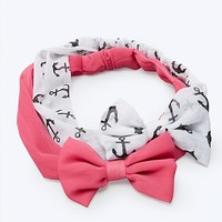 Anchor Bow Headbands