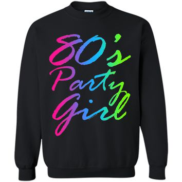 80s Party Girl Neon Retro Halloween Costume 1980s T-Shirt