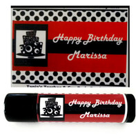 Birthday Party Favors / 15 Personalized Lip Balms Chapstick, Gift Bag Party Supplies