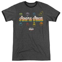 Sesame Street Made in 1969 Retro Ringer T-Shirt