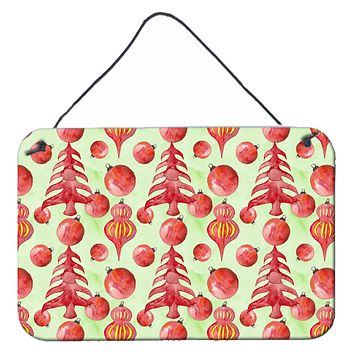 Red Christmas Tree and Ornaments Wall or Door Hanging Prints BB7483DS812