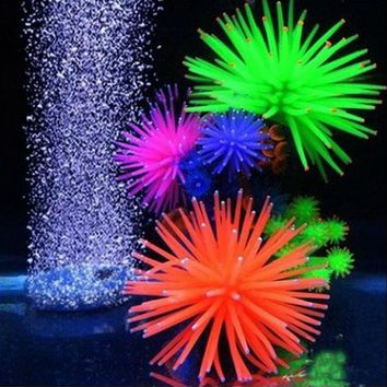 New Silicone Aquarium Fish Tank Decor Artificial Coral Plant Underwater Ornament Random Color
