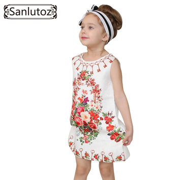 Girl Dress Flower Kids Clothes  Children Clothing Brand Girls Clothes for Party Holiday Toddler
