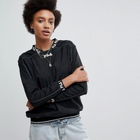 Fila Tracktop With Logo Cuff And Collar at asos.com