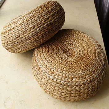 Hot Yoga mat,meditation cushions rattan ottoman stool Traditional natural rattan stool sofa,rattan furniture,wicker stools