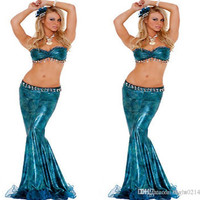 2015 The New Role Play Sexy Lingerie Bra Mermaid Skirt Suit Uniforms Temptation Mermaid Stage Clothes Halloween Costume Cosplay A18