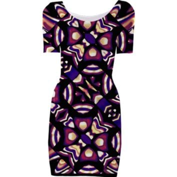 Colorful Tribal Pattern Print Bodycon Dress created by Rudimencial Design | Print All Over Me