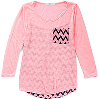 Moa Moa Girls 7-16 Contrast-Back Tunic Top
