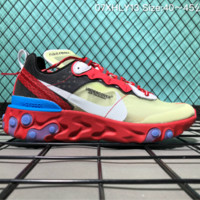 hcxx Nike Upcoming React Element 87 Undercover X Fashion Running Shoes Yellow