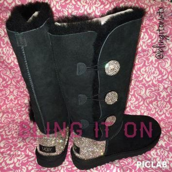 ICIK8X2 Blinged Ugg boots