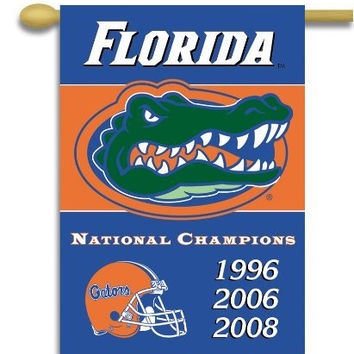 NCAA Florida Gators Champ Years 2-Sided 28-by-40 inch House Banner with Pole Sleeve