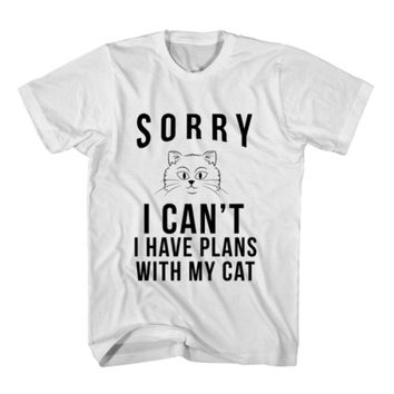 T-Shirt Sorry I Can't I Have Plans With My Cat
