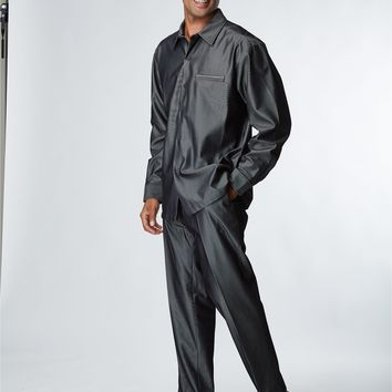 Ribbed Polyester Blend Pant Suit by Stacy Adams
