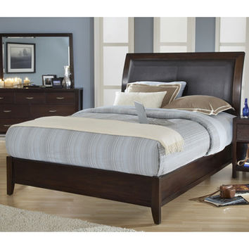 Modus Urban Loft Low Profile Sleigh Bed in Chocolate Brown