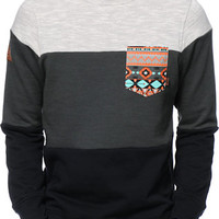 Dravus Palmetto Charcoal & Black Pocket Crew Neck Sweatshirt