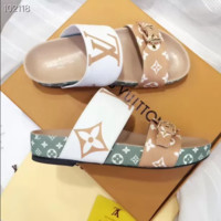 Louis Vuitton fashion hot seller of casual sandals with women's prints and matching colors