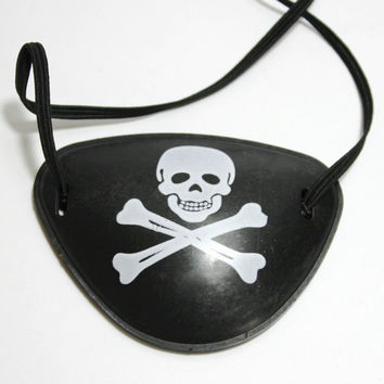 Hot 1PC Pirate Eye Patch Skull Crossbone Halloween Party Favor Bag Costume Kids Toy Free Shipping