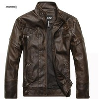 New Leather Jacket For Men / Classic Beautiful Leather Jacket