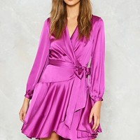 Pulling Power Satin Dress