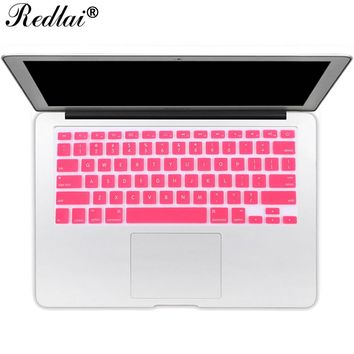 Translucent US English Alphabet Silicone Keyboard Cover For Apple Macbook Air 13 Keyboard Cover Film For Pro 13 15 Retina