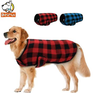 Winter Dog Clothes Vest Jacket Warm Fleece Pet Puppy Clothing Dogs Coat For Small Medium Large Dogs Golden Retriever