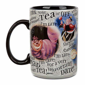 disney parks alice in wonderland cheshire cat simply mad coffee mug new
